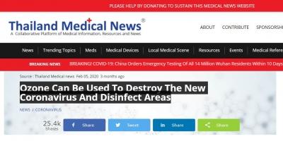 Ozon Yeni Coronavirüs ve Dezenfekte Etmek İçin Kullanılabilir