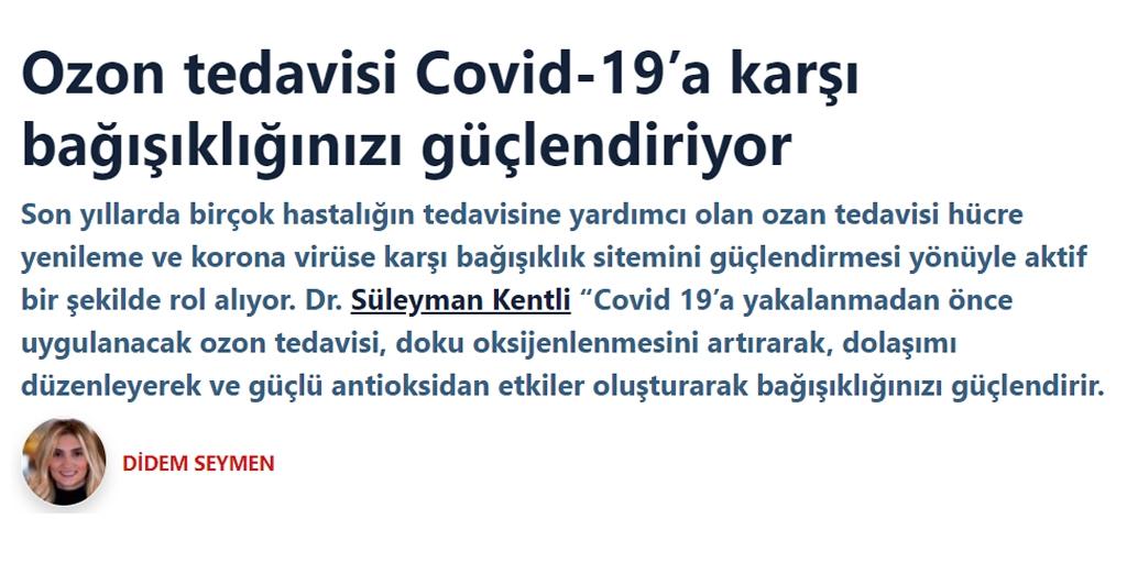 Ozon tedavisi Covid-19'a karşı bağışıklığınızı güçlendiriyor Ozon Jeneratörü